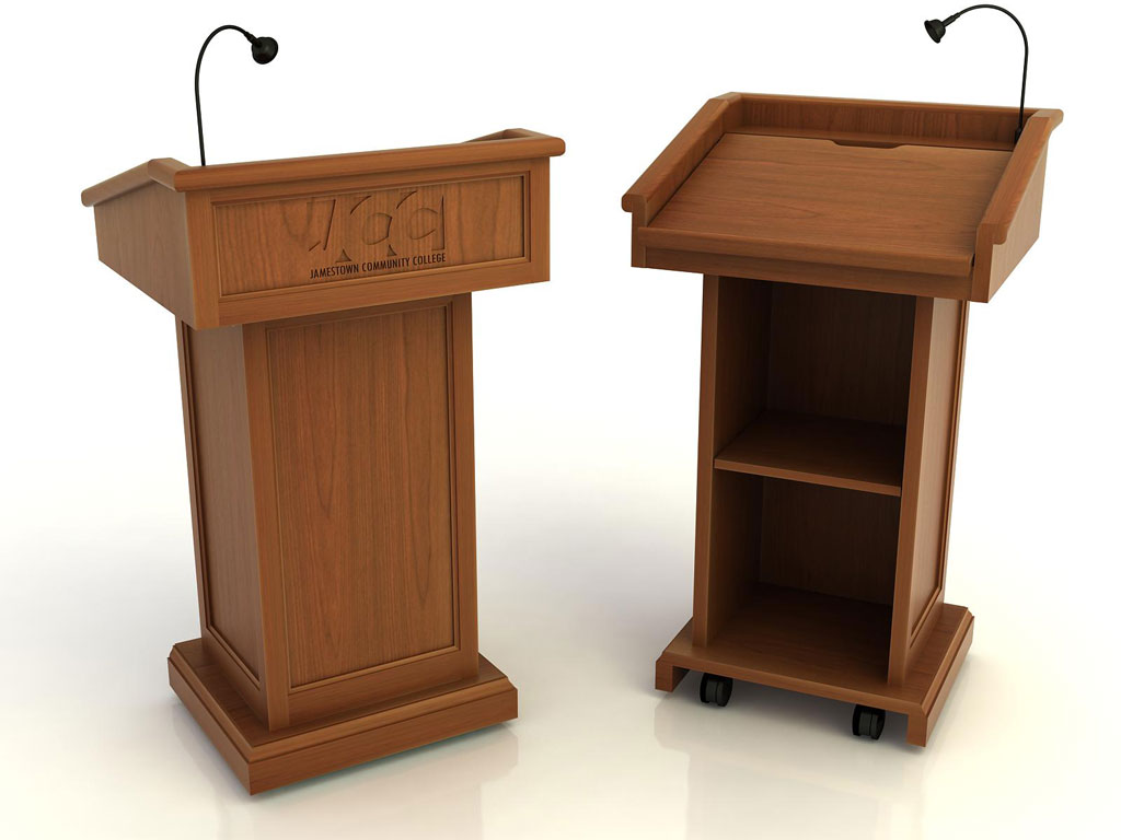 Casegood lectern traditional 01